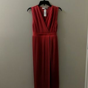 Tracy Reese red pleated dress NWT